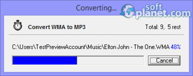 WMA To MP3 Converter Screenshot4