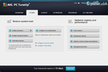 AVG PC Tuneup Screenshot2