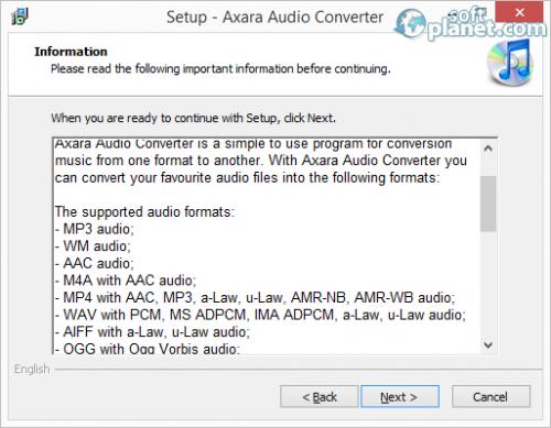 Axara Audio Converter Screenshot2