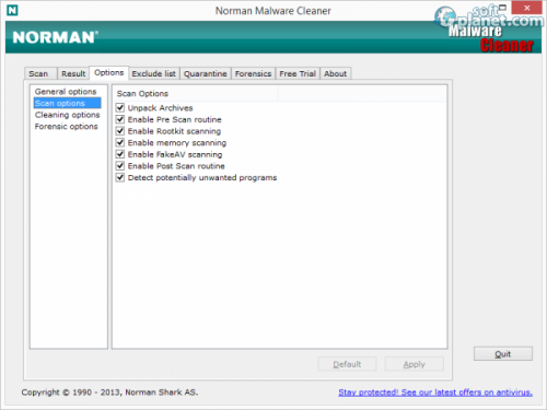 Norman Malware Cleaner Screenshot3