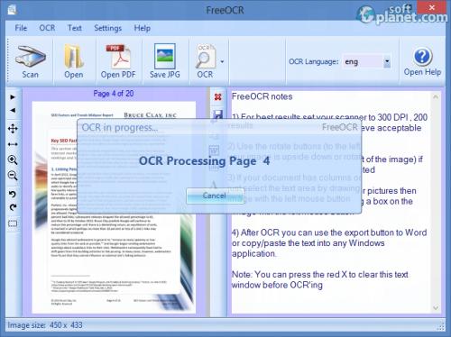 FreeOCR Screenshot5