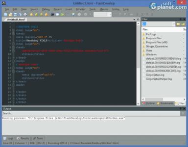 FlashDevelop Screenshot3