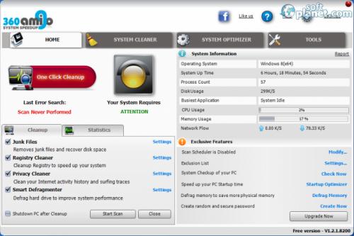 360Amigo System Speedup Free 1.2.1.8200