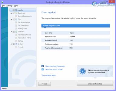 Auslogics Registry Cleaner Screenshot5