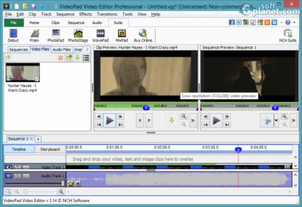 VideoPad Video Editor Screenshot4