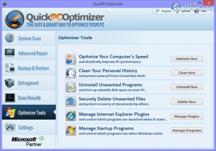 QuickPCOptimizer Screenshot4