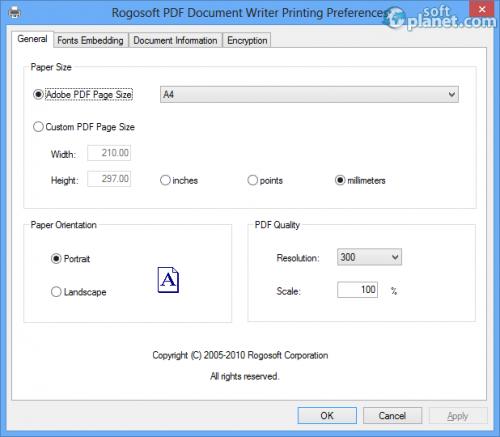 PDF Document Writer Screenshot3