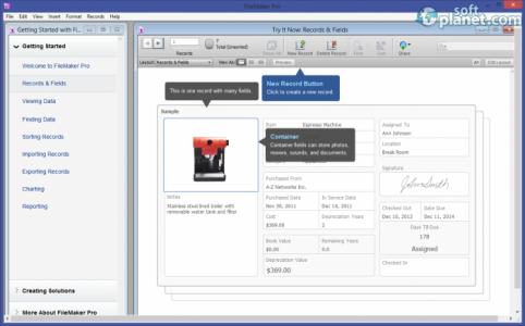 FileMaker Pro Screenshot2