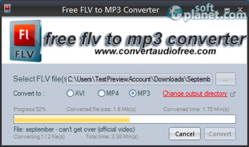 Free FLV to MP3 Converter Screenshot2