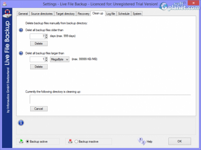 Live File Backup Screenshot4