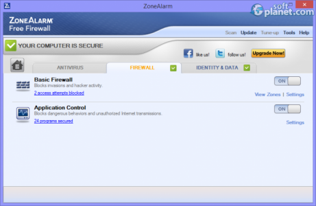 ZoneAlarm Free Firewall Screenshot2