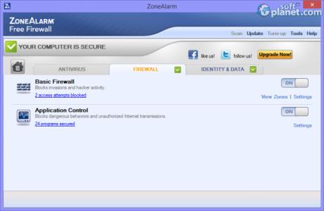 ZoneAlarm Free Firewall Screenshot2