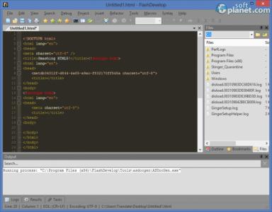 FlashDevelop Screenshot4