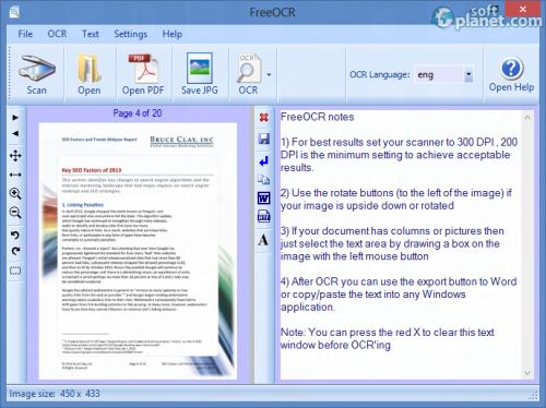 FreeOCR Screenshot4