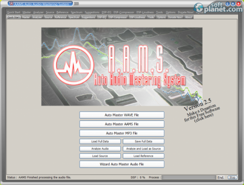AAMS Auto Audio Mastering System 2.5