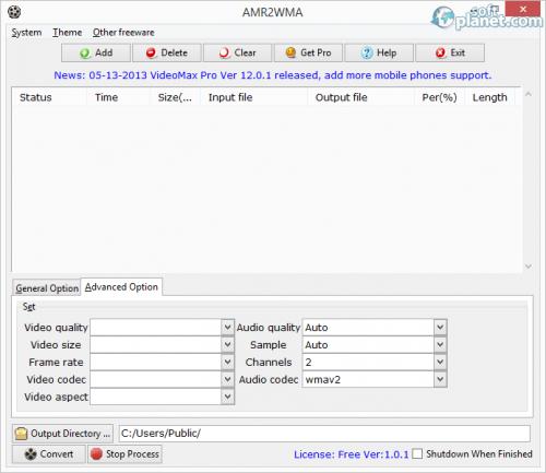 AMR2WMA 1.0.1