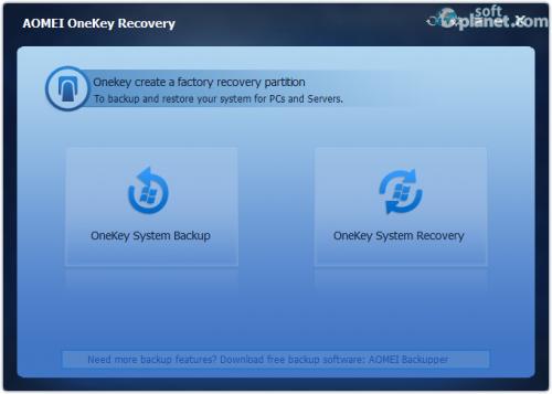 AOMEI OneKey Recovery 1.1