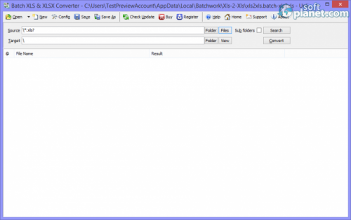 Batch XLS & XLSX Converter 2013.5.1009.1625