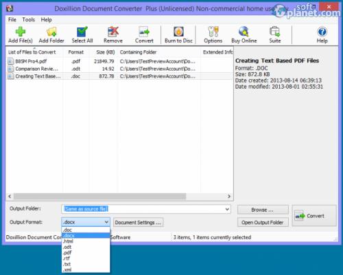 Doxillion Document Converter 2.34