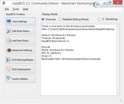 EasyBCD Community Edition 2.2.0.182