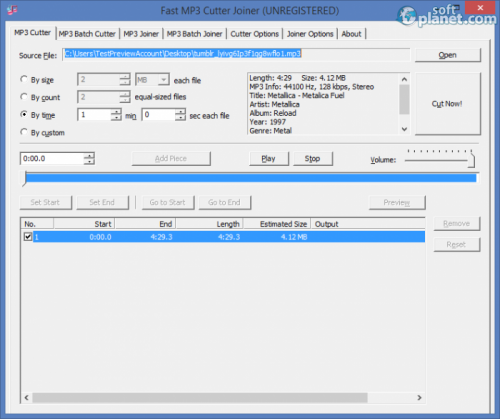 Fast MP3 Cutter Joiner 3.2