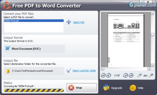 Free PDF to Word Converter 5.1.0.383