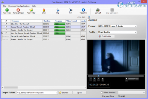 Free Convert MP4 To MP3 1.1