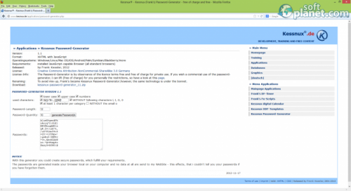 Kessnux Password Generator 1.1
