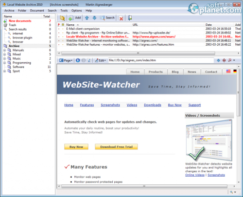Local Website Archive 2011