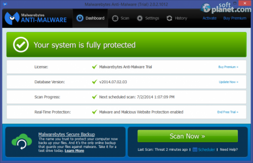 Malwarebytes Anti-Malware 2.1.4.1018
