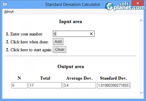 Standard Deviation Calculator 1.0