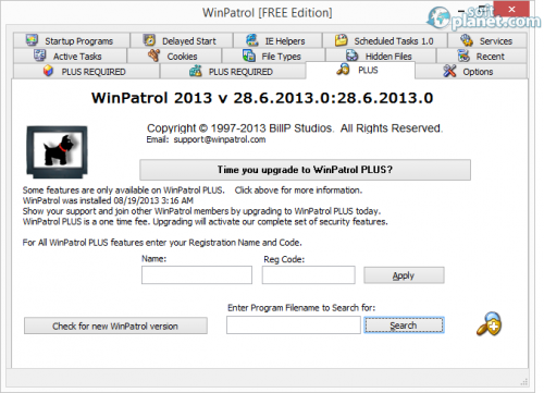 WinPatrol 29.0.2013