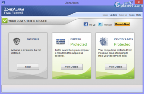 ZoneAlarm Free Firewall 13.3.209.000