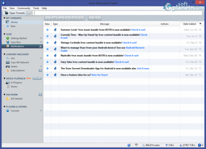Vuze Bittorrent Client Screenshot5