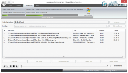 Axara Audio Converter Screenshot3