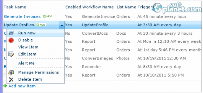 HarePoint Workflow Scheduler for SharePoint Screenshot3
