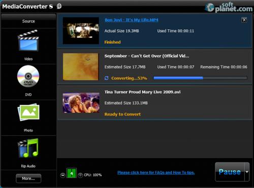 ArcSoft MediaConverter Screenshot2