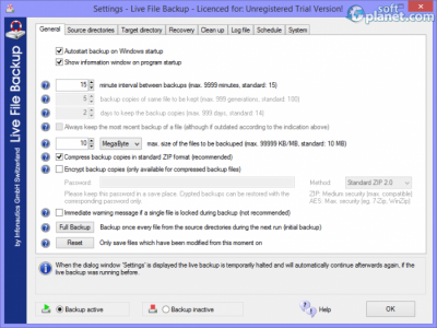 Live File Backup Screenshot2