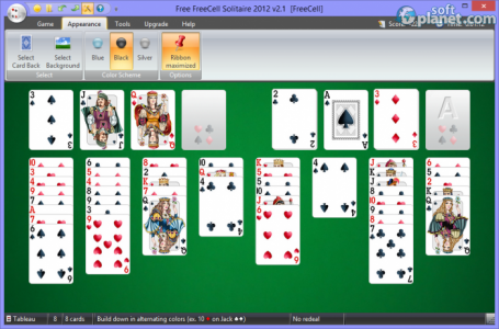 Free FreeCell Solitaire 2012 Screenshot2