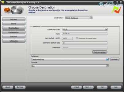 DBConvert for SQLite and MSSQL Screenshot2