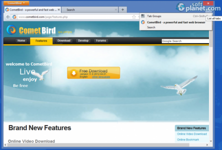 CometBird Screenshot2