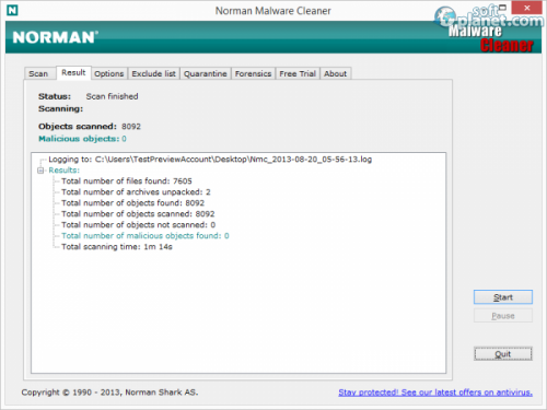 Norman Malware Cleaner Screenshot2