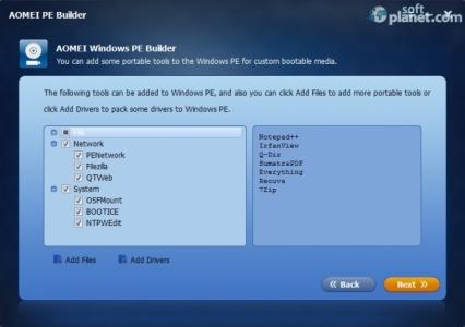 AOMEI PE Builder Screenshot2