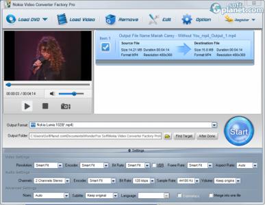 Nokia Video Converter Factory Pro Screenshot2