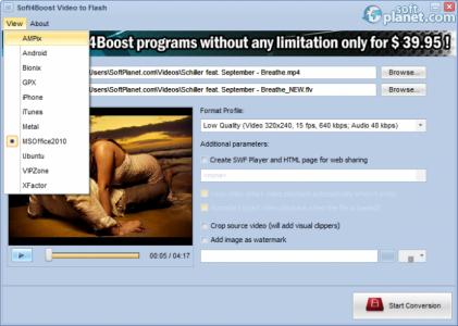 Soft4Boost Video to Flash Screenshot2