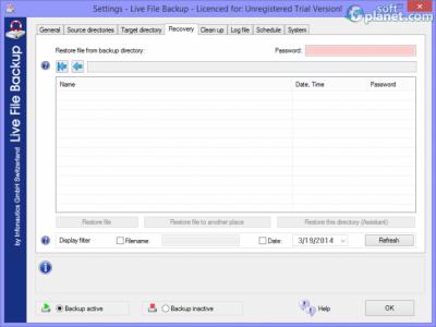 Live File Backup Screenshot3