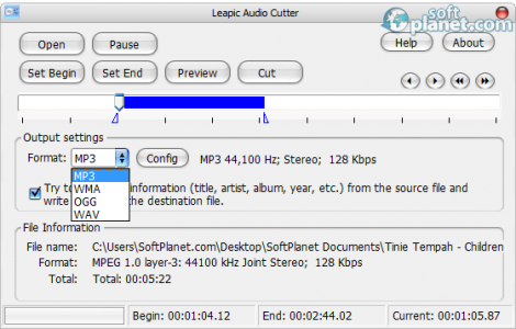 Leapic Audio Cutter Screenshot2