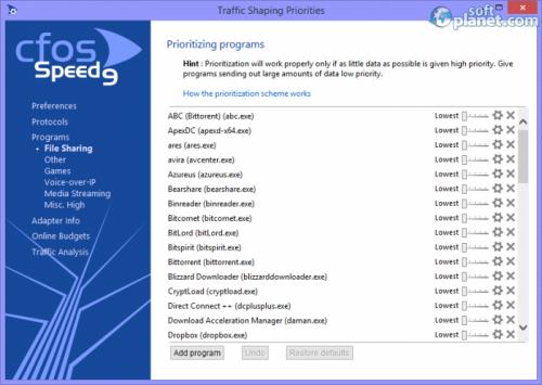 cFosSpeed 9.60 Build 2114