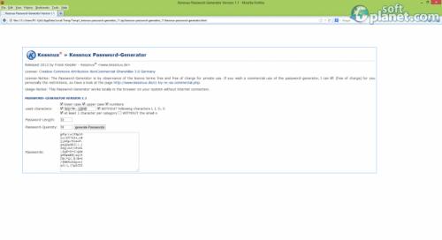Kessnux Password Generator Screenshot2