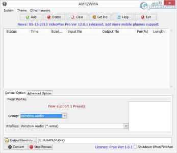 AMR2WMA Screenshot2